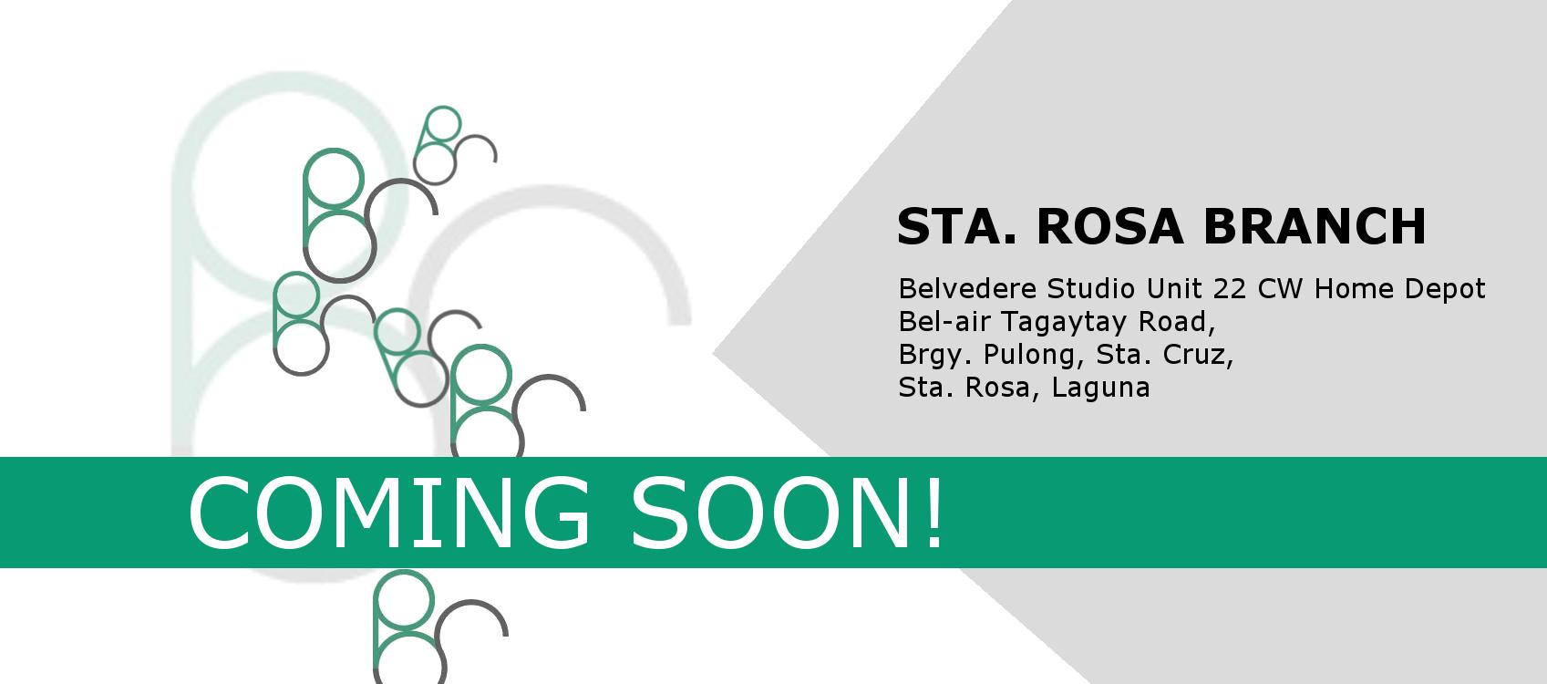 . Sta  Rosa Branch   Coming Soon    Belvedere Studio